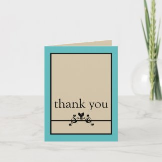 Elegant Floral Swirls Thank You Card card