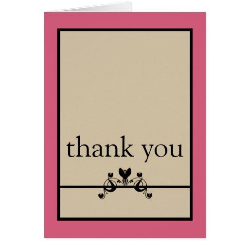 Elegant Floral Swirls Thank You Card