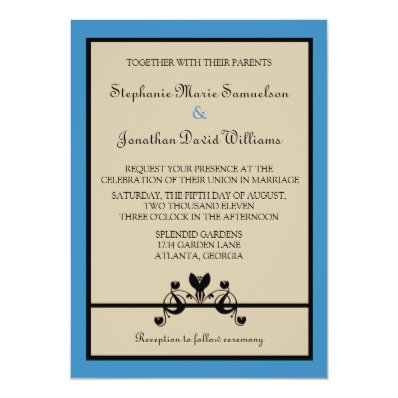 Elegant Floral Swirls Wedding Invitation