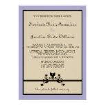 "Elegant Floral Swirls Wedding Invitation 5"" X 7"" Invitation Card"