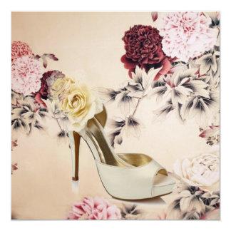 Elegant Floral Vintage Bridal Shower Invitation