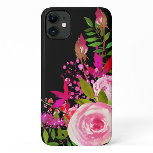 Elegant Floral Watercolor iPhone 11 Case
