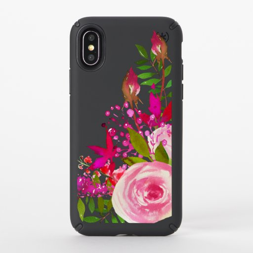 Elegant Floral Watercolor Speck iPhone XS Case