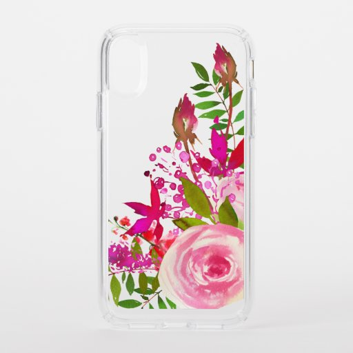 Elegant Floral Watercolor Speck iPhone XR Case