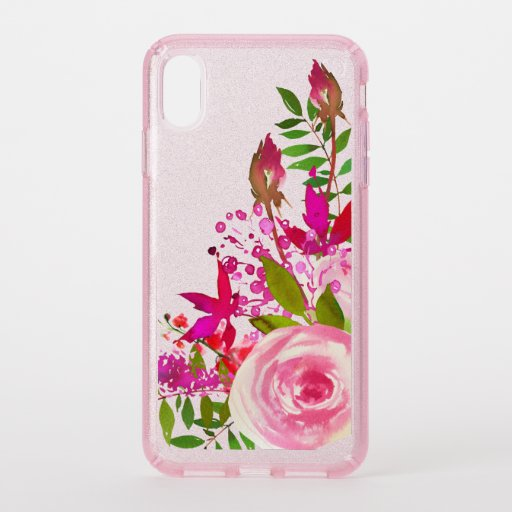 Elegant Floral Watercolor Speck iPhone XS Max Case
