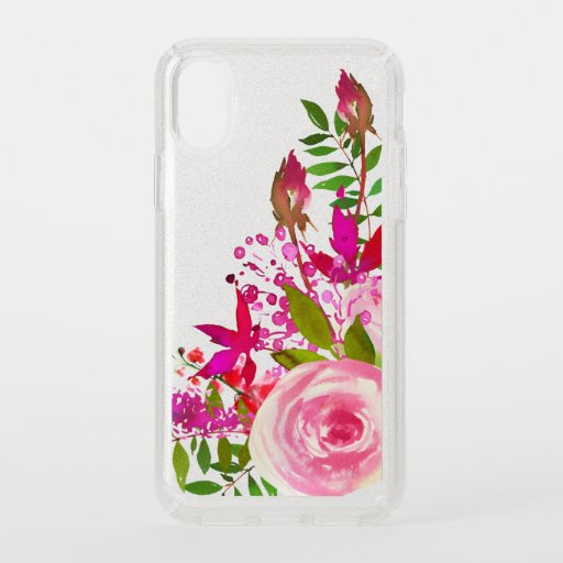 Elegant Floral Watercolor Speck iPhone X Case
