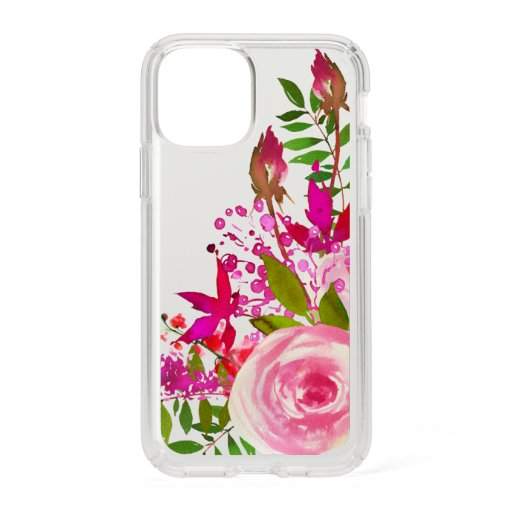 Elegant Floral Watercolor Speck iPhone 11 Pro Case