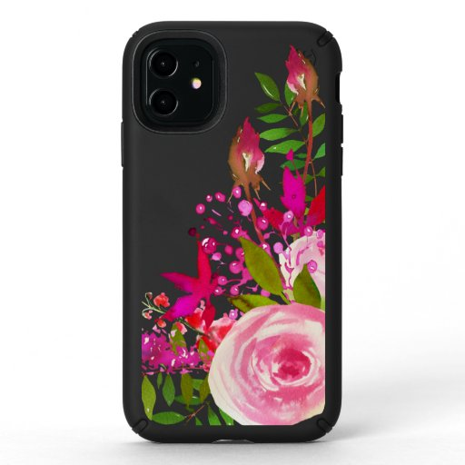 Elegant Floral Watercolor Speck iPhone 11 Case