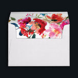 """Elegant Floral Watercolor Summer Garden Envelope<br><div class=""""desc"""">Elegant summer garden envelopes featuring a classic white background,  and a watercolor floral display. Click on the """"Customize it"""" button for further personalization of this template. You will find matching items further down the page,  if however you can&#39;t find what you looking for please contact me.</div>"""