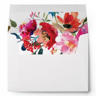 Elegant Floral Watercolor Summer Garden Envelope
