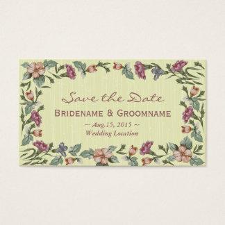 Elegant Floral Wedding Event RSVP Business Card