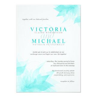 Elegant Floral Wedding Invitation-Teal Blue Ice 5.5x7.5 Paper Invitation Card