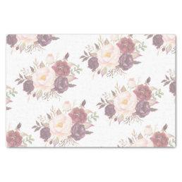 Elegant Floral Wedding Invitation Tissue Paper