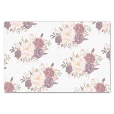Beach Themed Elegant Floral Wedding Invitation Tissue Paper
