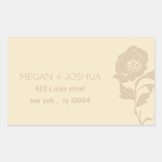Elegant Floral Wedding Labels -4 Rectangular Sticker