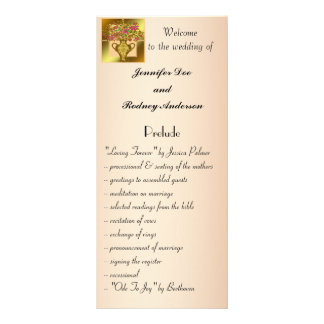 Elegant Floral Wedding Program Rack Card