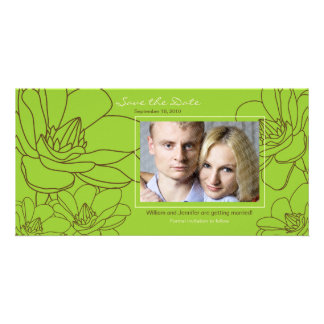 Elegant Floral Wedding Save the Date Photo Card