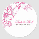 Elegant Floral Wedding Sticker