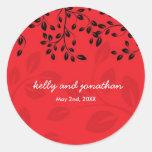 Elegant Floral Wedding Stickers
