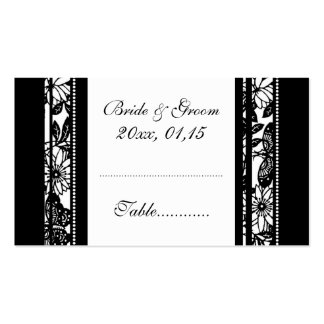 Elegant Floral Wedding Table Place Setting Cards