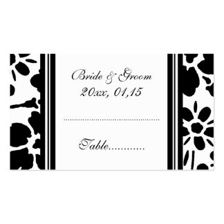 Elegant Floral Wedding Table Place Setting Cards Double-Sided Standard Business Cards (Pack Of 100)