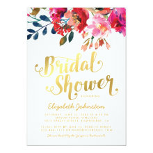 Elegant Floral Wedding White Gold Bridal Shower