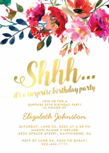 surprise birthday invitations zazzle