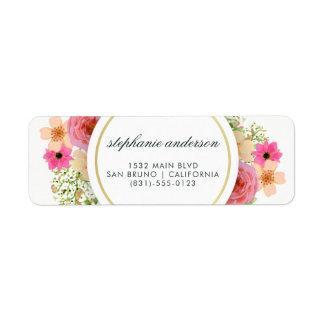 Elegant Floral Wreath | Modern Typography Label