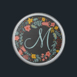 "Elegant Floral Wreath Monogram Bluetooth Speaker<br><div class=""desc"">Elegant Floral Wreath Monogram design for you.</div>"