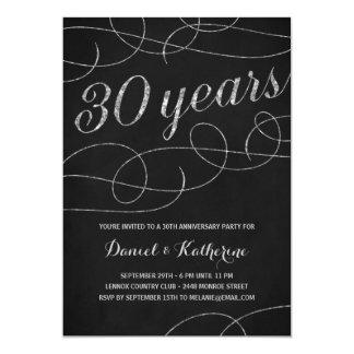 Elegant Flourish | 30th Anniversary Party Invitation