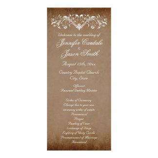 Elegant Flourish Brown Fall Wedding Programs