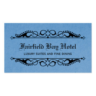 Elegant Flourish Business Card, Blue Business Card