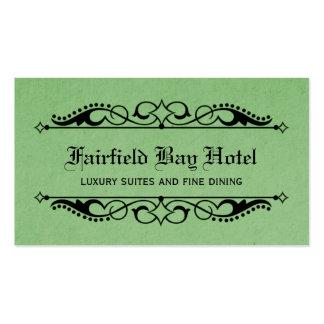 Elegant Flourish Business Card, Green