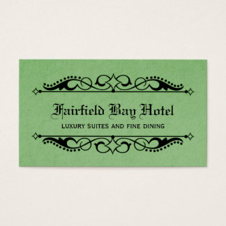 Elegant Flourish Business Card, Green Business Card