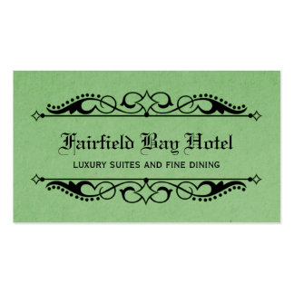 Elegant Flourish Business Card, Green Business Card
