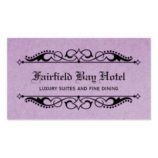 Elegant Flourish Business Card, Lilac Business Card