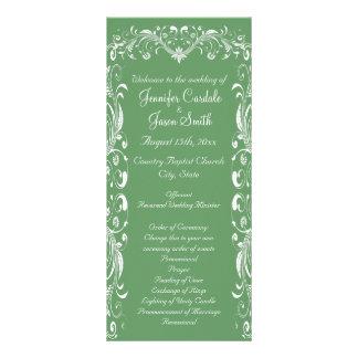 Elegant Flourish Sage Wedding Programs Templates