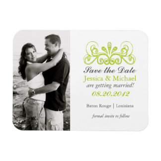 Elegant Flourish Save the Date (Today's Best Award Magnet
