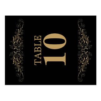 Elegant Flourish Table Number Card