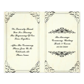 elegant flourish wedding program