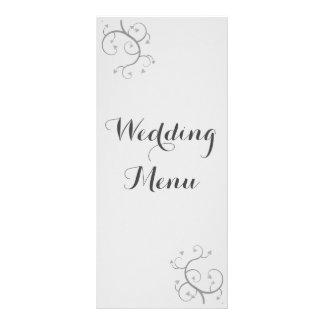 Elegant Flourish With Hearts Wedding Rack Card