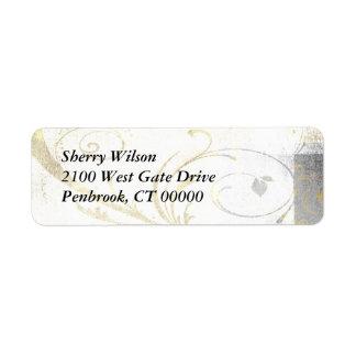Elegant Flourishes Return Address Label