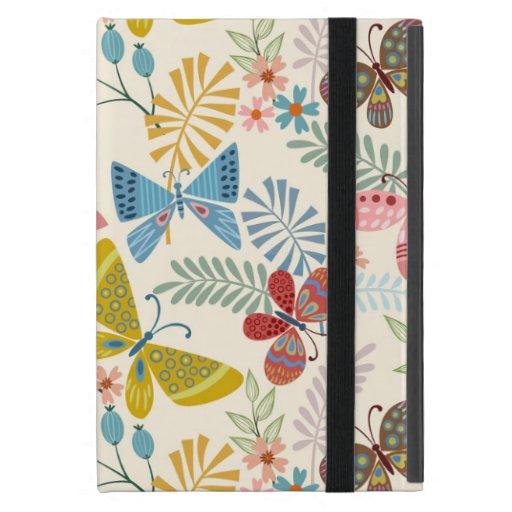 Elegant Flower Butterfly Pattern Case For iPad Mini