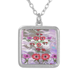 Elegant Flower Display on Gifts for all occasions Silver Plated Necklace