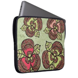 Elegant Flower Floral Designer Laptop Sleeve Bag