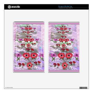 Elegant Flower Floral Gifts Kindle Fire Skins
