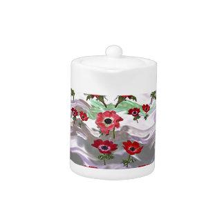 Elegant Flower Floral Gifts Teapot