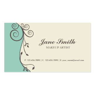 Elegant Flower Floral Retro Modern Stylish Classy Double-Sided Standard Business Cards (Pack Of 100)