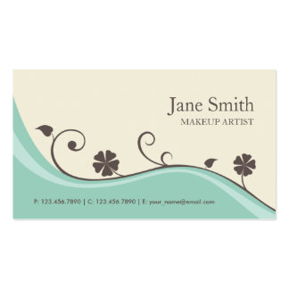 Elegant Flower Floral Retro Stylish Classy Groupon Double-Sided Standard Business Cards (Pack Of 100)