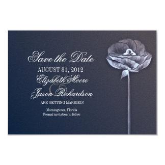 elegant flower modern save the date flat card